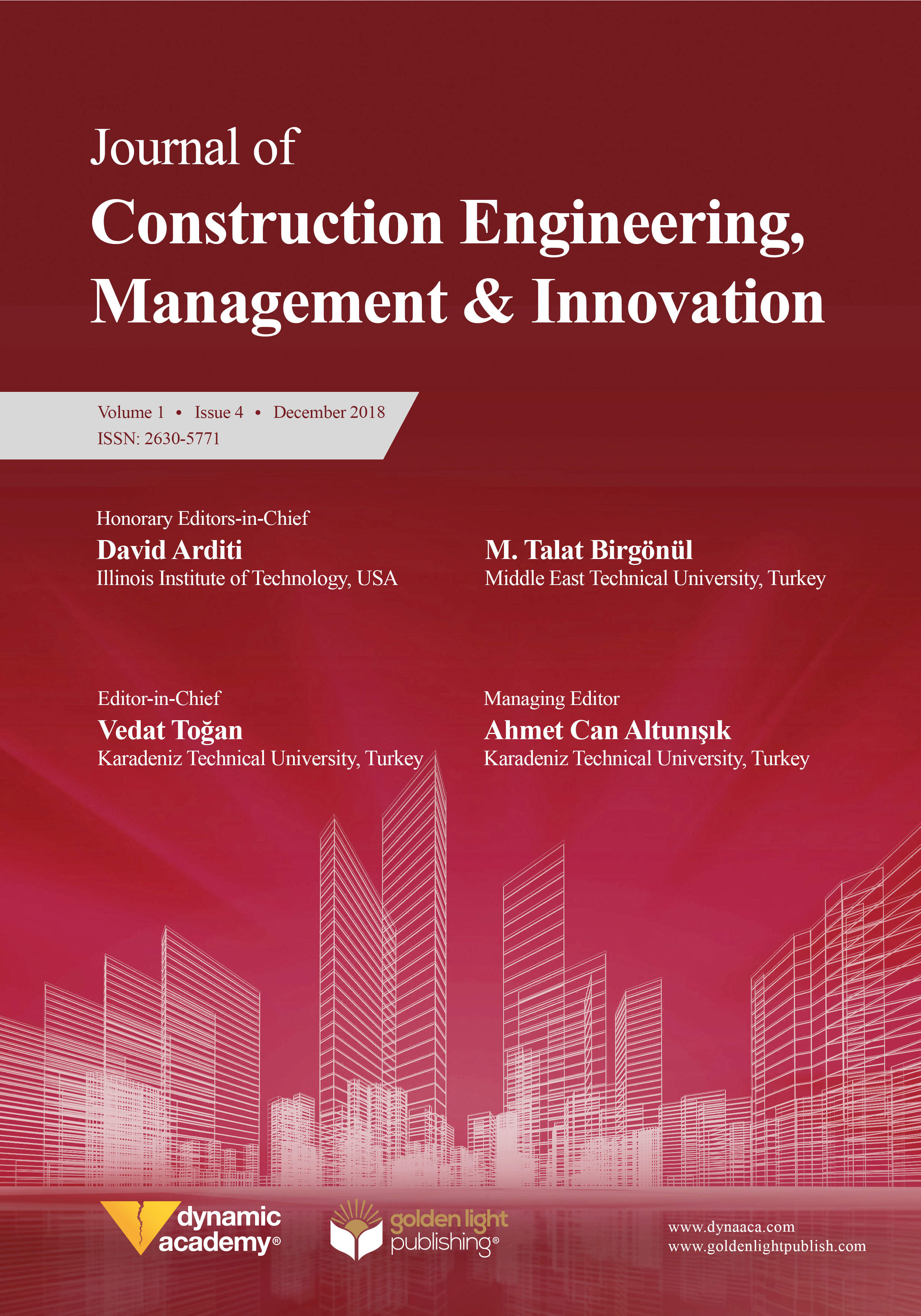 Journal of Construction Engineering, Management & Innovation